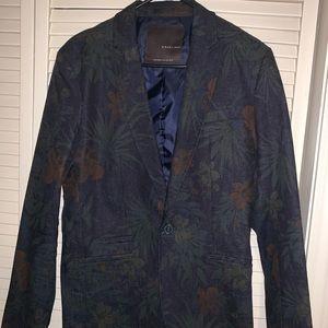 Zara men Shorts Suit Floral Denim Jean
